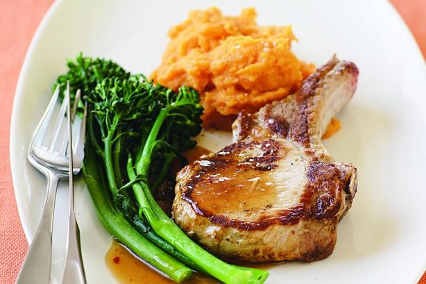 Ginger, plum and soy sauce give simple pork chops and mash an exciting ...