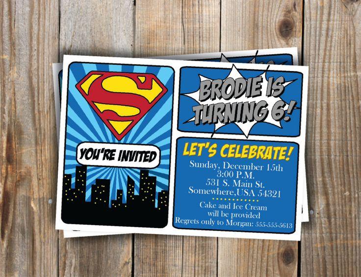 superman invites superman party pinterest
