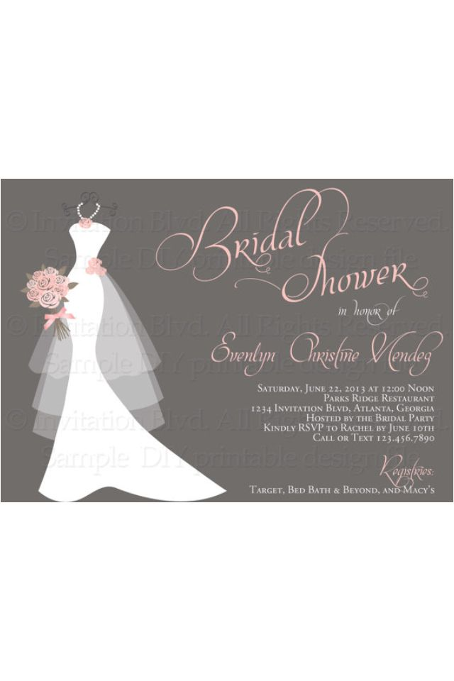 bridal shower invitations bridal shower invitations via email