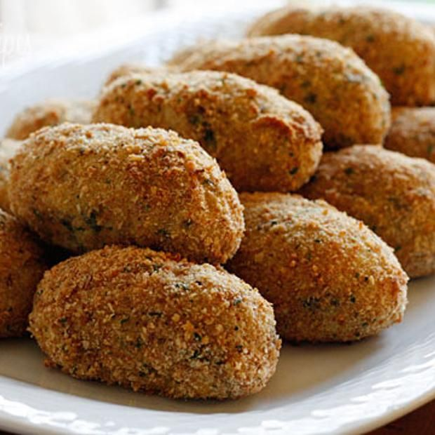 Baked Turkey Croquettes Recipe appetizer, fingerfood, main-dish, dairy ...
