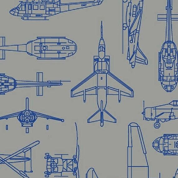 Flyboy by windham w fabrics airforce fabric airplane for Airplane fabric by the yard