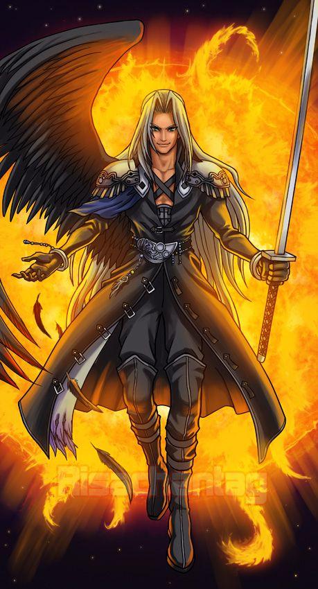 Sephiroth Wing Pin by Phaedra ...