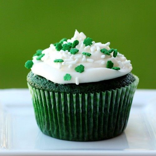 Lucky Green Velvet Cupcakes for St. Patty's Day