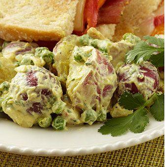 Curried Potato Salad - Serves 6-8 | Food | Pinterest