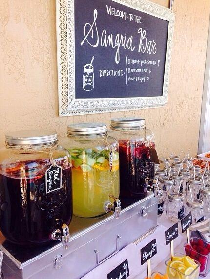 Sangria bar food bars stations pinterest for Food bar pinterest