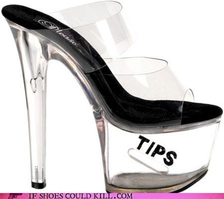 hooker shoes with a slot for tips