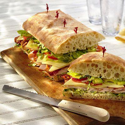 Turkey Cobb Salad Sandwich | sandwiches, wraps & wheels! | Pinterest