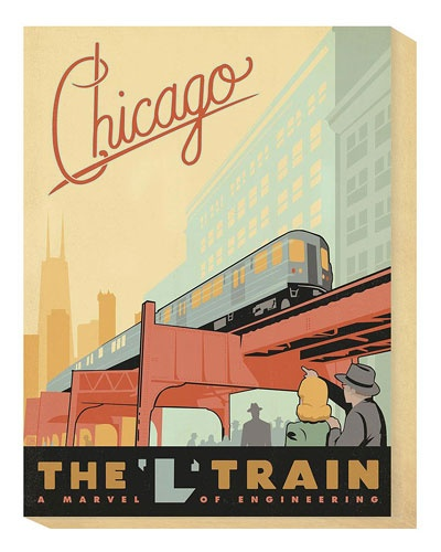 """""""Chicago, the 'L' Train"""" by Anderson Design Group"""