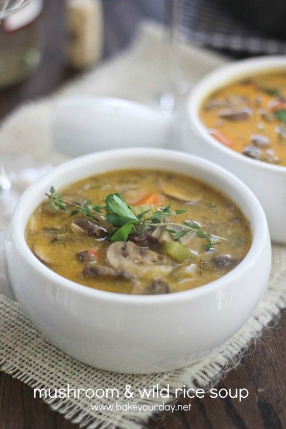 Mushroom & Wild Rice Soup | Bake Your Day - Meh. It smelled delicious ...