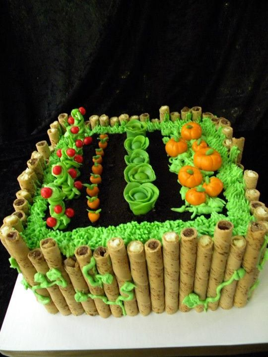 Faithy Cakes - Garden themed cake Boy Birthday Party ...