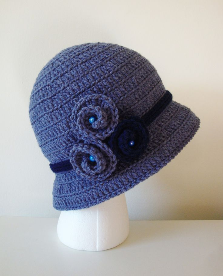 Crochet Pattern For A Cloche Hat : Crochet Bucket Cloche Crochet - MY HAT!!! Pinterest