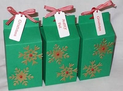 Christmas Packaging- Milk Cartons