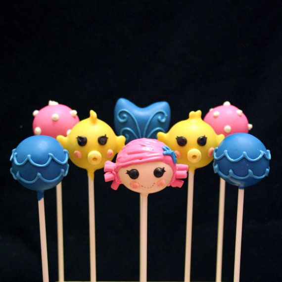 Lalaloopsy mermaid cake pops