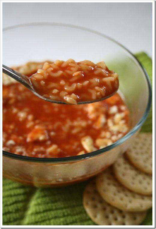 Homemade Alphabet Soup   Soups   Pinterest