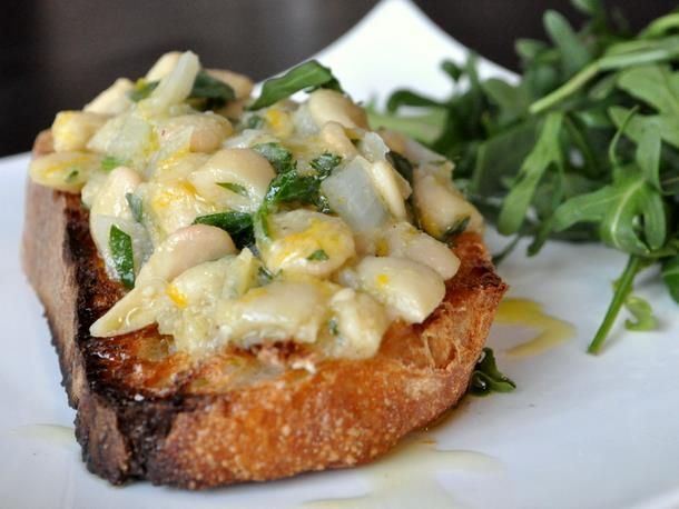 Meyer Lemon and Gigante Bean Open Faced Sandwiches | Recipe