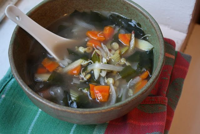 Sprouted Lentil Miso Soup | Feed me | Pinterest
