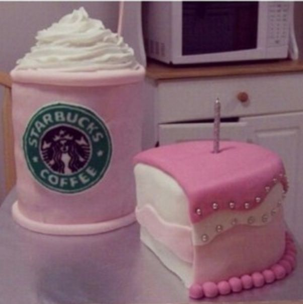 Starbucks cake | Sher likes this | Pinterest