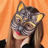 Still looking for a fun Halloween costume? Try on this cat mask for an easy and festive option! #marthastewartcrafts