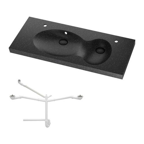 Funky Bathroom Sinks : BREDVIKEN Sink, 2 bowls IKEA 10-year Limited Warranty. Read about the ...