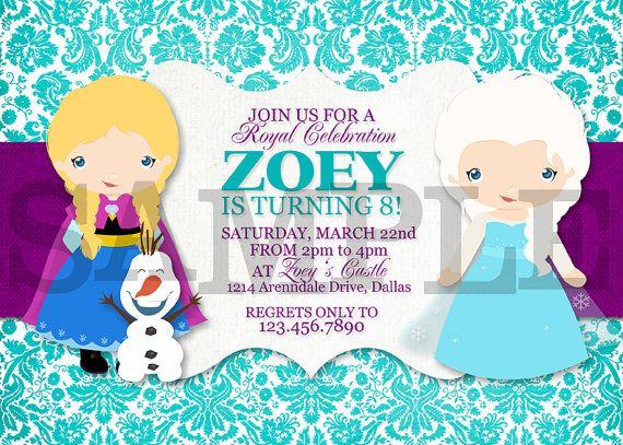 Frozen Birthday Invitations Personalized