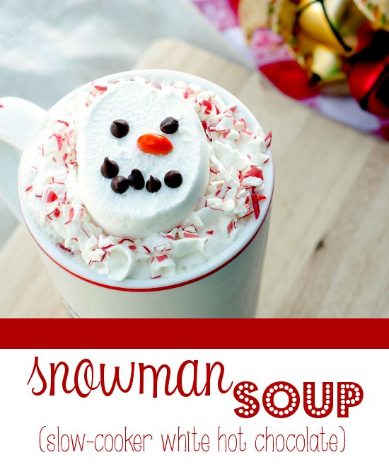 snowman peppermint white hot chocolate peppermint white chocolate hot ...
