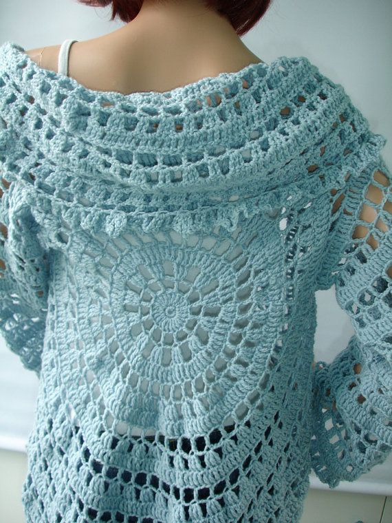 Crochet Lace : Crocheted lace jacket ready to ship by CatWalk7 on Etsy, $129.00