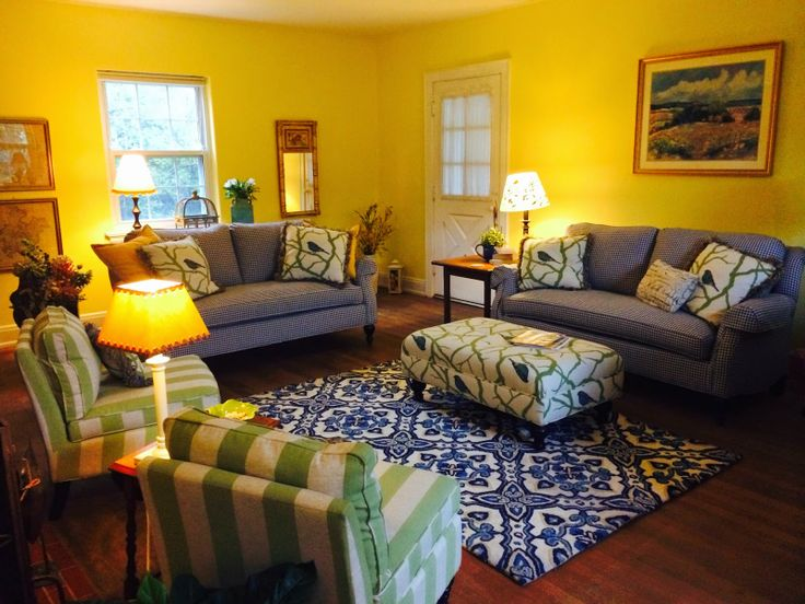 Yellow And Blue Living Room Decor