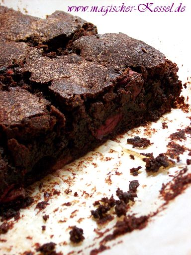 Chocolate Cherry Brownies | From my own kitchen | Pinterest