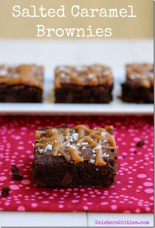 Salted Caramel Brownies using Maldon flaked sea salt (from 2 Sisters 2 ...