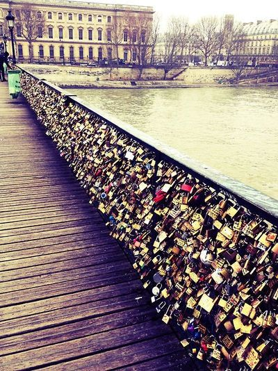 Paris love lock bridge wanderlust pinterest for Locks on the bridge in paris