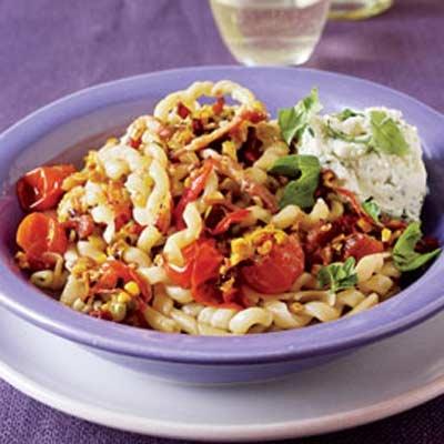 BLT Pasta with Corn and Fresh Ricotta | Recipe