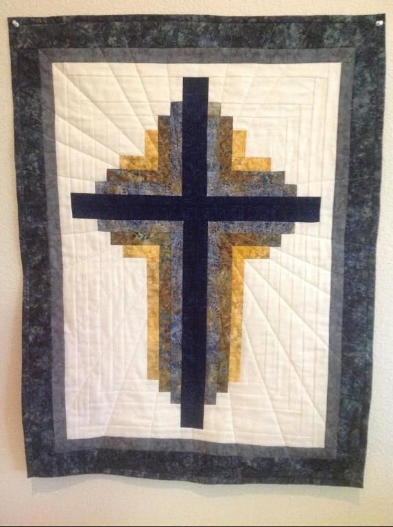 Log Cabin Cross I Love The Quilting Quilting Pinterest