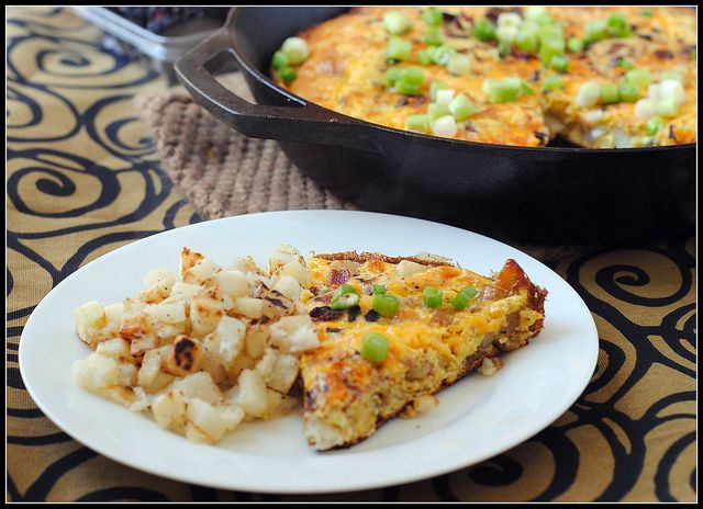 cheesy bacon frittata by preventionrd, via Flickr - I thought it was ...