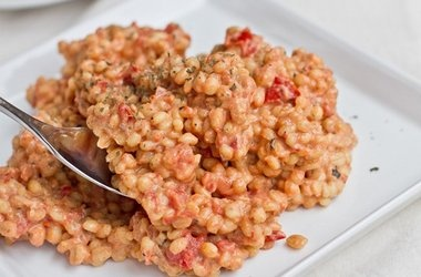 ultra creamy amp cheezy tomato risotto amp dill chip chickpeas ...