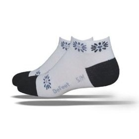 DeFeet Women's Speede Heart Blossom Cycling/Running Socks