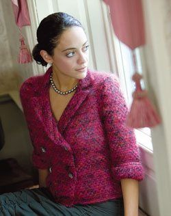 Tweed Jacket - Knitting Daily Knit & Crochet Projects Pinterest
