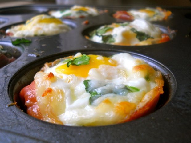 Prosciutto Egg Cups - look easy and delicious!