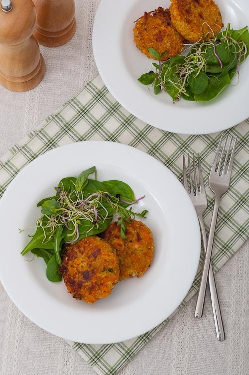 Quinoa And Sweet Potato Cakes Recipe — Dishmaps