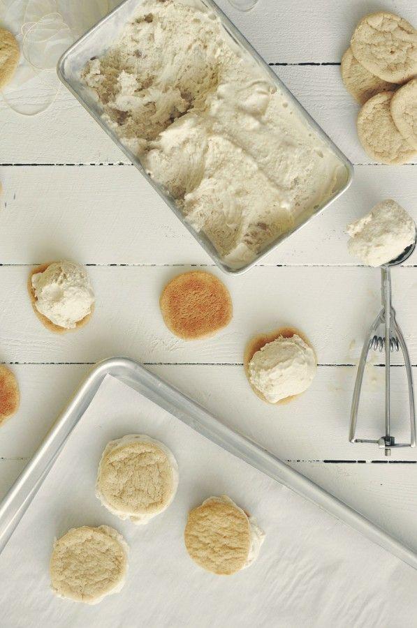 Banana Cookies And Bourbon Ice Cream Sandwiches Recipe — Dishmaps