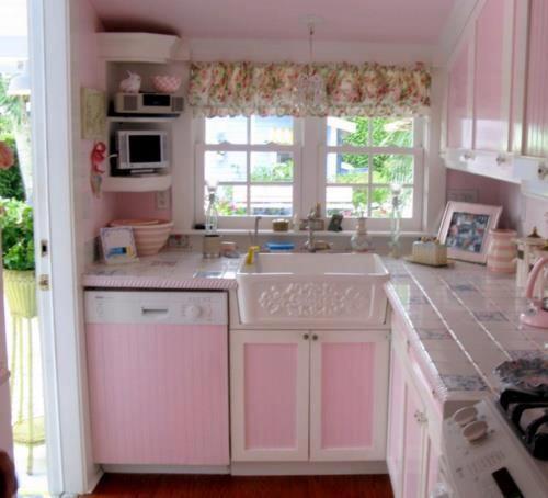 Pink Shabby Chic Kitchen Mes Petite Cuisines Pinterest
