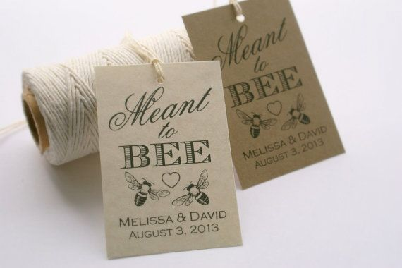 Tags, DIY Custom Wedding Favor Tags, Honey Favors, Bridal Shower GIft ...