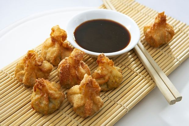 Crispy Chicken and Monkey Nut Wontons | Recipes by French Chef David ...