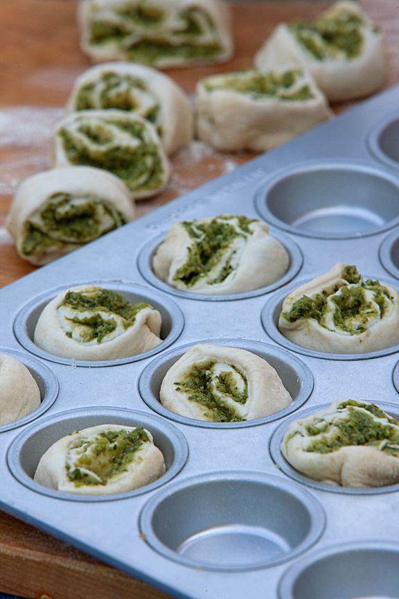 Pesto Swirl Rolls | Gardens | Pinterest