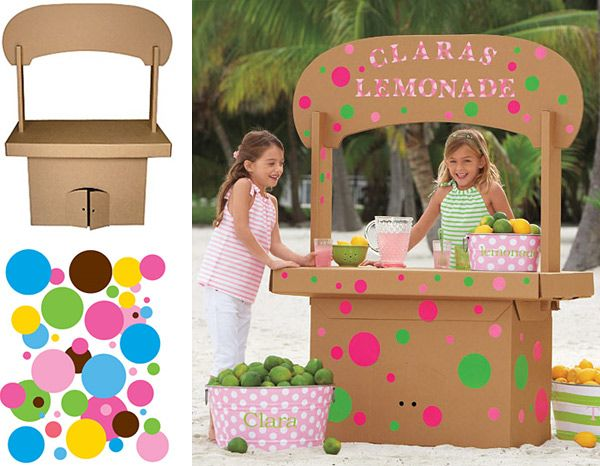 cardboard box lemonade stand crafts with cardboard boxes