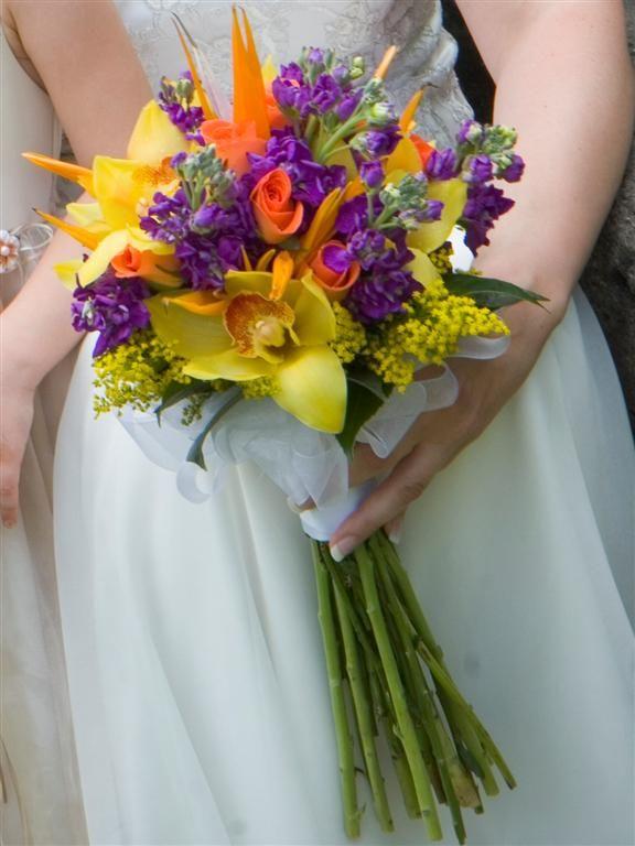 Bridal Bouquet Tropical Flowers : Tropical wedding bouquet summer beach