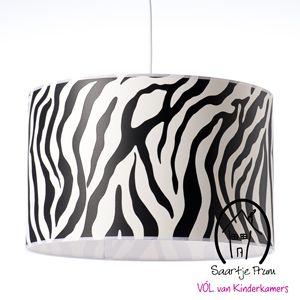 Hanglamp 40cm Zebra zwart  Jungle kamer  Pinterest