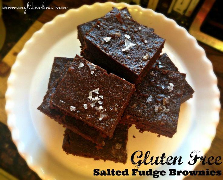 Gluten Free Salted Fudge Brownies | Recipes - Desserts!!! | Pinterest