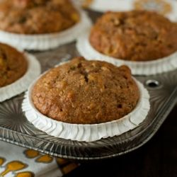 Morning Glory Muffins full of carrots, zucchini, apples and much more. These make the perfect on the go breakfast for busy mornings.