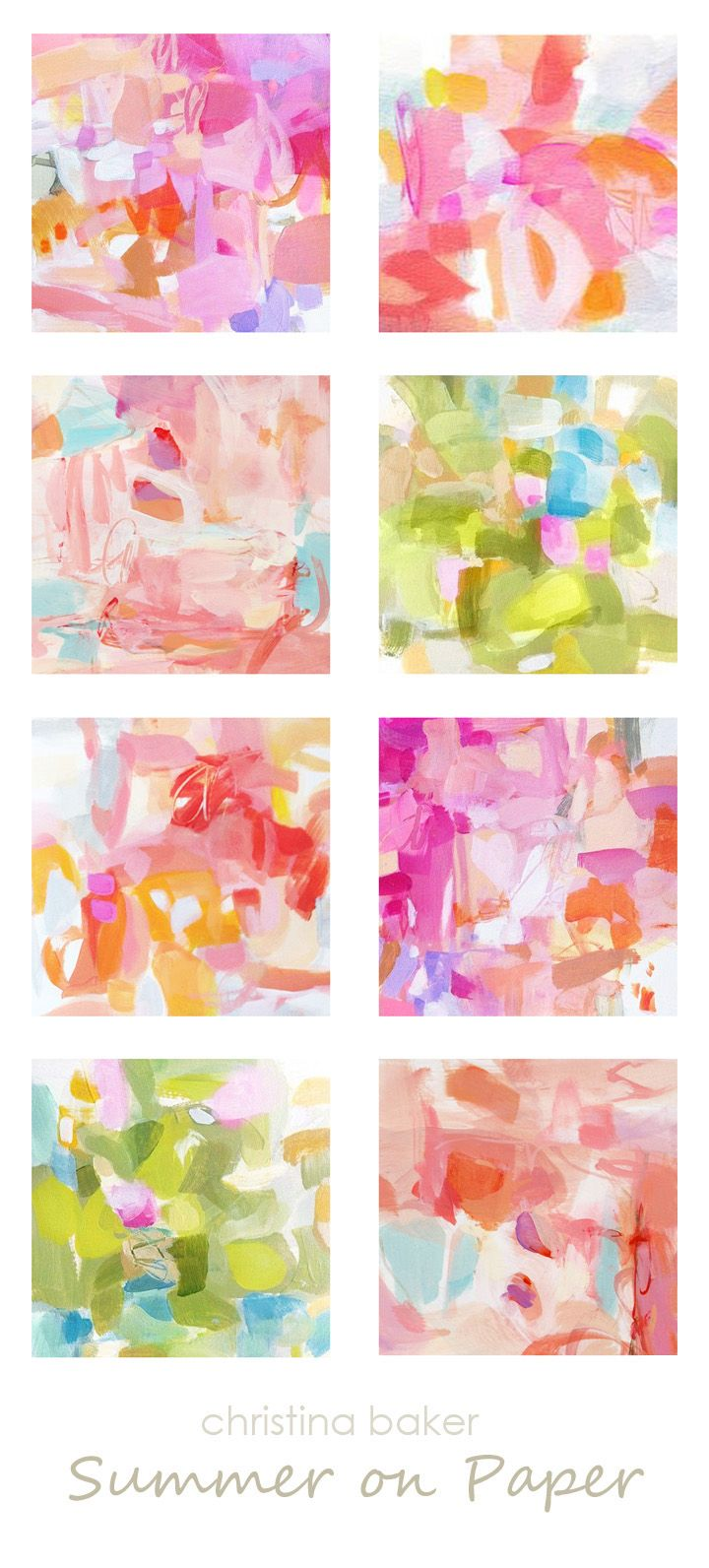 Christina Baker Artist Blog: Summer on Paper .