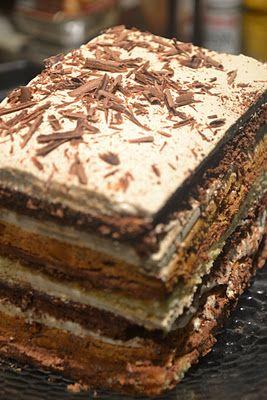 Twelve-Layer Mocha Cake Recipe — Dishmaps